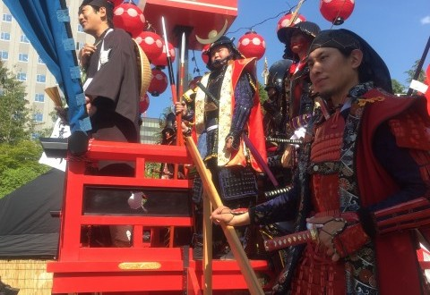 2015年の仙台・青葉祭り 伊達縁にて