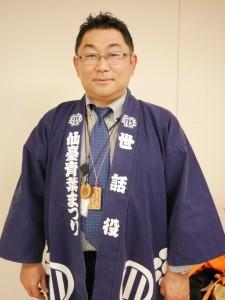 仙台・青葉まつり協賛会の板垣州さん。伊達木遣り会のメンバーでもある