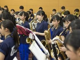 吹奏楽だけあって、迫力満点のパフォーマンス