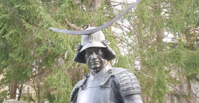 庭園には伊達政宗公の胸像が。