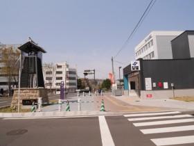 右手前方に「大町西公園駅」が見える