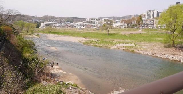 澱橋の上からの広瀬川