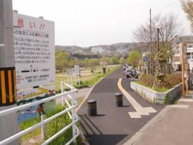 27「広瀬川遊歩道」の入口に到着