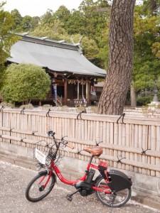 ダテバイクなら境内へ自転車で行ける!