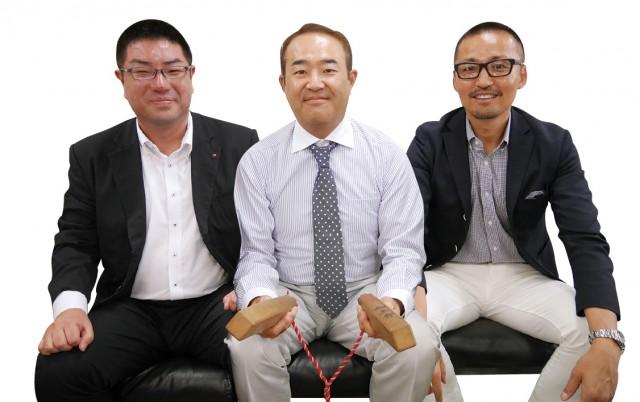 クリスロード商店街振興組合 青年向上会(左より)総務・会計 津村雅敏さん、会長 木村貴則さん、副会長 岩本富貴さん