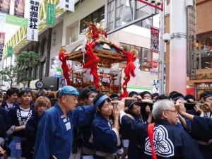えびす神社/マーブルロードおおまちの神輿