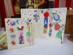 七夕飾り付きの「お便りカード」800円(税込)と「色紙」500円も人気